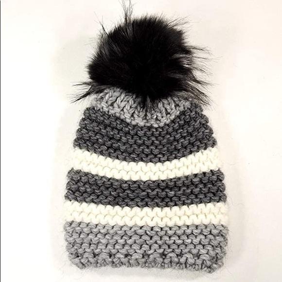 Nardi & Tagliaferri Wool/Alpaca Striped Beanie OS